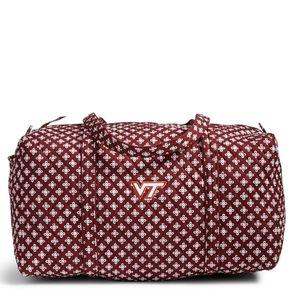 Vera bradley Virginia tech large duffle travel bag